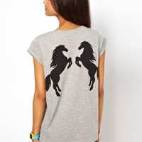 ASOS T-Shirt with Horse Print on the Back