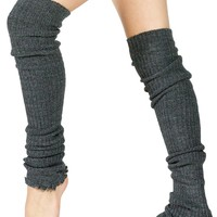 Stretch Knit Thigh High Leg Warmers 28 Inch Ribbed In Over 20 Colors