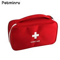 Petminru Portable First Aid Emergency Medical Kit Pouch Home Office Travel Survival Bag Medicine Bag Cosmetic Bag