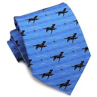 Doggy Paddle Neck Tie in Blue by Bird Dog Bay