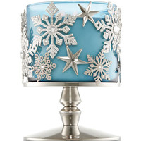 SNOWFLAKE PEDESTAL3-Wick Candle Sleeve