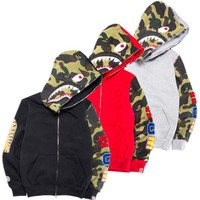 BAPE A Bathing Ape Men's Jacket Shark Head Full Zip Hoodie