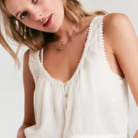 Kimchi Blue Pollyanna Button-Front Cami | Urban Outfitters