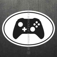 Gaming Controller Oval Sticker Vinyl Decal Video Game Console Sticker Fit Xbox