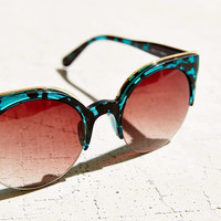 Cinema Cat Round Half Frame Sunglasses - Urban Outfitters