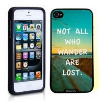 Iphone 5 5S Case Thinshell Case Protective Iphone 5 5S Case Shawnex Not All Who Wander Are Lost Quote