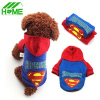 Pet Dog Clothes Superman Coat Hoodies Clothing Puppy Chihuahua Small Pets Dogs Winter Cloth Coats Costumes Roupas Para Mascotas