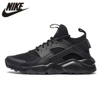 Original New Arrival Official Nike Air Huarache Run Ultra Men's and Women's All Black  Running Shoes Sneakers 819685-002 36-44.5