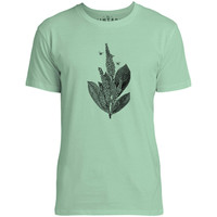 Mintage Flowers and Honey Bees Mens Fine Jersey T-Shirt (Mint)