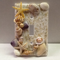 Light Switch Cover, Seashells and REAL RI Beach Sand
