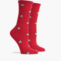 Richer Poorer Buddy Gnome Sock - Red