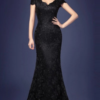 Beaded Trumpet Ball Gown