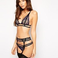 ASOS Soraia Lace & Velvet Lingerie Set at ASOS