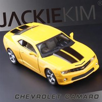 New RMZ city 1/36 Scale USA Chevrolet Camaro Police Edition Diecast Metal Pull Back Car Model Toy For Gift/Collection/Kids