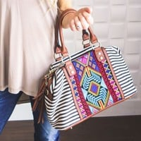 Aztec Embroidered Purse