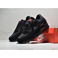 NIKE AIR MAX 90 Tide brand men's breathable and comfortable wild sports shoes Black