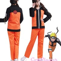 KIGUCOS Anime Uniform Outfit Naruto Cosplay Costume 2nd Uzumaki Naruto Costumes