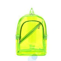 Clear Backpacks popular NEW Waterproof Backpack Transparent Clear Plastic for Teenage Girls PVC School Bags Shoulders Bag space backpack notebook AT_62_4