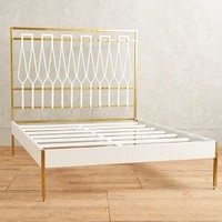 Tracey Boyd Balustrade Bed in Brass Size: