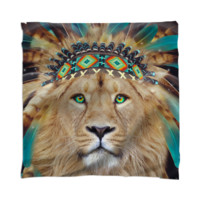 Fight For What You Love • Chief of Dreams: Lion v.2 Unisex Scarf / Mini Wall Tapestry created by soaringanchordesigns | Print All Over Me