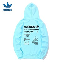 ADIDAS Clover Men's Casual Sports Hooded Jacket blue