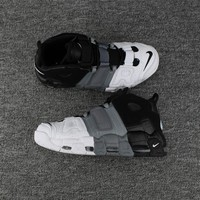 Nike Air More Uptempo White/Gray/Black Size 40--46