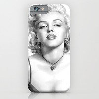 Marilyn Monroe - PENCIL DRAWING iPhone & iPod Case by Thubakabra