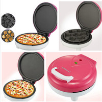 Electric Pizza Maker Bread Maker pink Multi-functional Household Cake Machine Pizza Making Machine