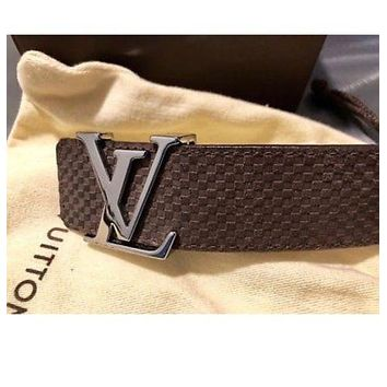 LOUIS VITTON INITIALS 40MM MEN BELT, 90CM (US 32)