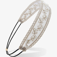 Pearlescent Embroidered Headwrap   FOREVER 21 - 1021992976