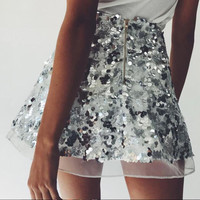 Gold And Silver Bling Bling Shiny Party Shorts [11604062479]