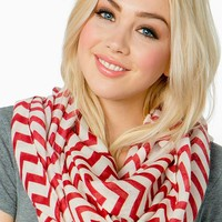 Solid Color ZigZag Infinity Scarf