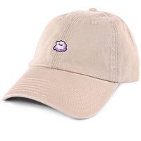 Purple Slime Low Profile Sports Cap - Tan