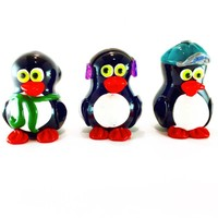 Penguin Hand pipe Crush Glass