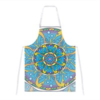 Mandala Trippy Stained Glass Seahorse All Over Apron