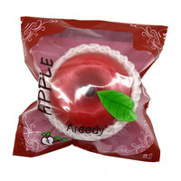12 Pieces/lot Areedy Jumbo 10cm Squishy Red Apple Scented Super Slow Rising High Quality Toy