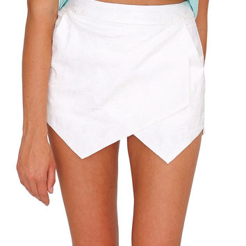 Hanging Out Skort White
