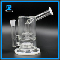 """New Product Glass Bong 8"""" Height Large Glass Pot Of 18mm Female Joint Recycler Oil Rig"""