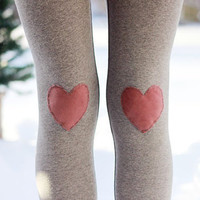 My Valentine Heart Leggings // size large
