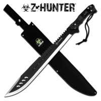 "25"" Zombie Survival Machete w/Sheath"
