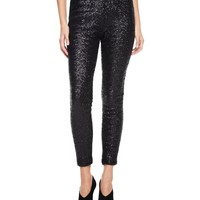 Pitch Black Sequin Legging by Juicy Couture,
