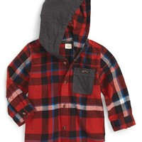 Tucker + Tate Hooded Flannel Shirt (Baby Boys) | Nordstrom