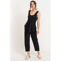Relaxed Tie Jumpsuit
