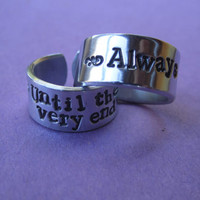 """Always"""" .  """"Until the Very End """" rings  Harry Potter inspired"""