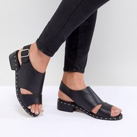 Truffle Collection Faux Leather Sandal at asos.com