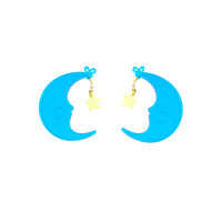 XL Care Bears™ Bedtime Bear Belly Badge Earrings