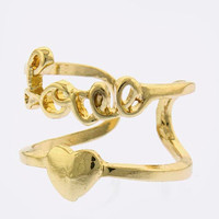 Love & Heart Double Ring