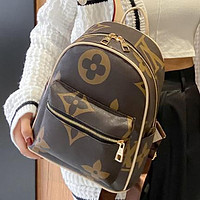 LV Louis vuitton classic letter print ladies shopping backpack school bag Backpack