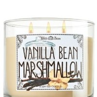 1 X Bath & Body Works Vanilla Bean Marshmallow Candle 14.5 oz 3 Wick White Barn Market