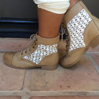 Taupe Sub-S Lace Detailed Boots